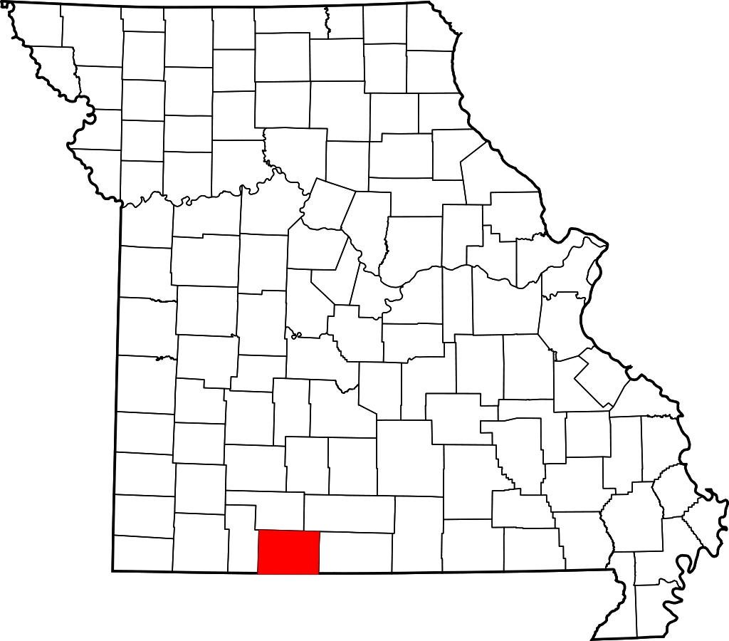 Taney County Missouri Map
